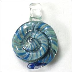 Bluish Spiral Pendant