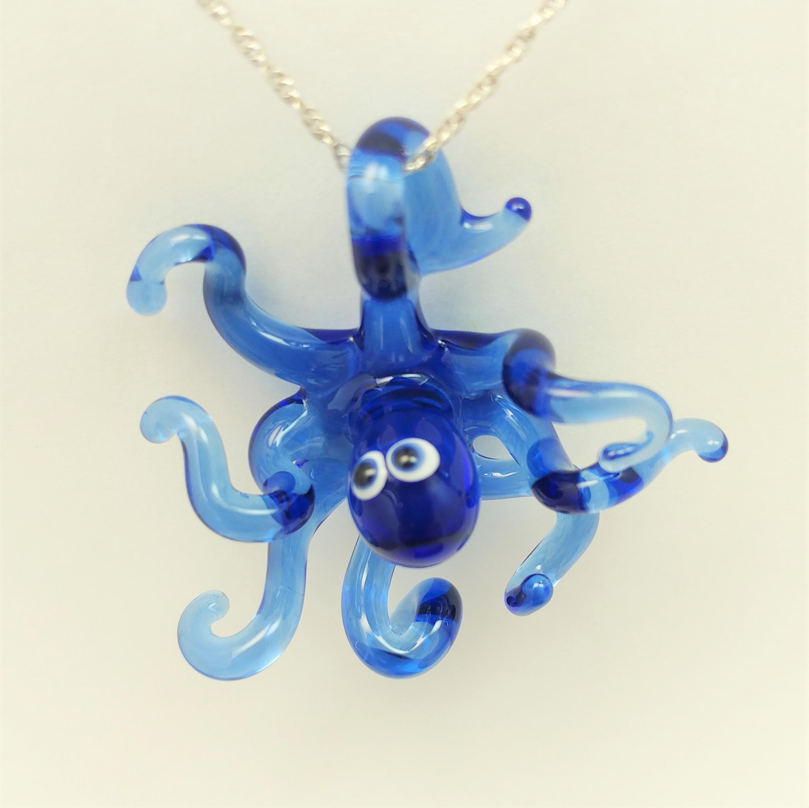Blue Octopus pendant