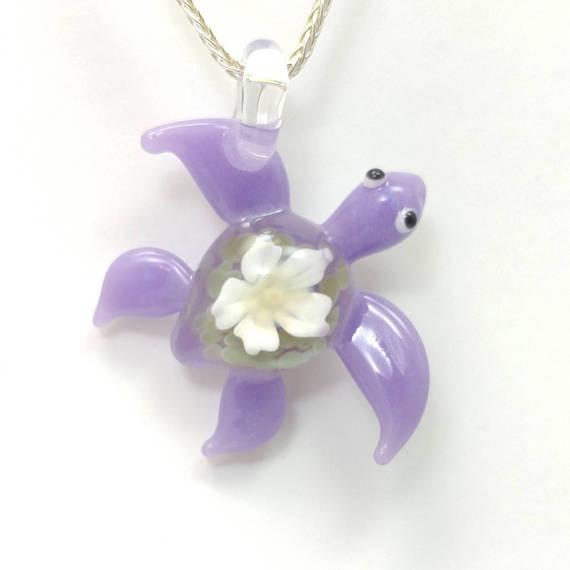 Purple sea turtle